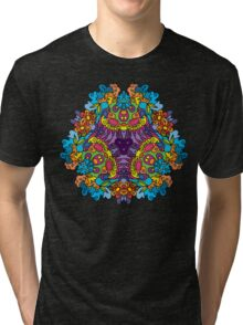 Psychedelic jungle kaleidoscope ornament 30 Tri-blend T-Shirt
