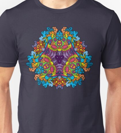 Psychedelic jungle kaleidoscope ornament 30 Unisex T-Shirt