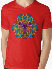 Psychedelic jungle kaleidoscope ornament 30 Mens V-Neck T-Shirt