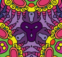 Psychedelic jungle kaleidoscope ornament 30 Sticker