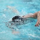 swimmer in motion a front view by mrivserg