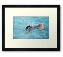 swimmer in motion a front view Framed Print