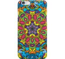 Psychedelic jungle kaleidoscope ornament 31 iPhone Case/Skin