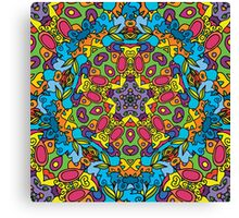 Psychedelic jungle kaleidoscope ornament 31 Canvas Print
