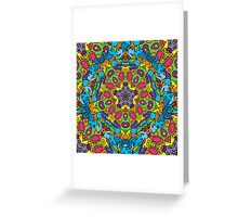 Psychedelic jungle kaleidoscope ornament 31 Greeting Card