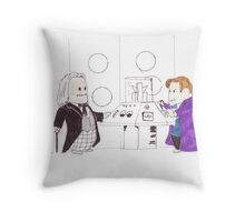 whodipose in space in time Throw Pillow
