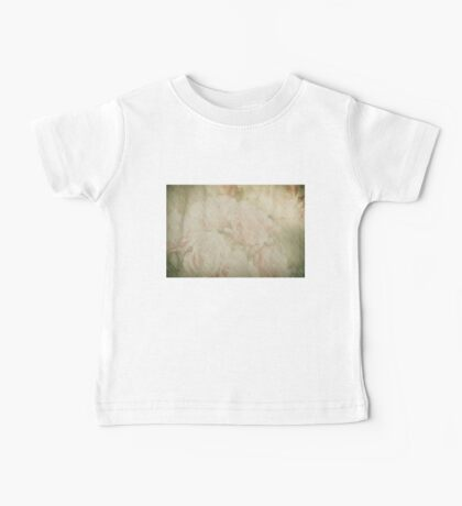Vintage silk cotton roses texture Baby Tee