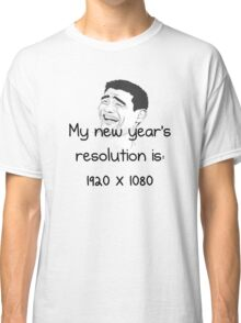 New Year´s Resolution 1920x1080 Classic T-Shirt