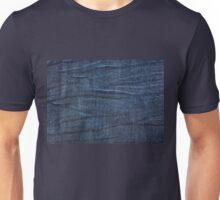 Navy blue jeans cloth textured pattern Unisex T-Shirt