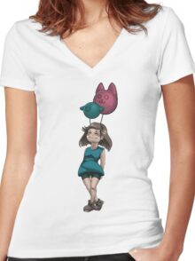 My friends the balloons Women's Fitted V-Neck T-Shirt