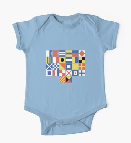 Nautical Flags One Piece - Short Sleeve