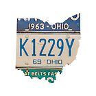 Vintage Ohio License Plates by Maren Misner