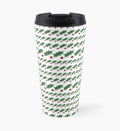 Jolly Holly Stripes Travel Mug
