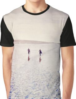 Surfers in the snow. Graphic T-Shirt