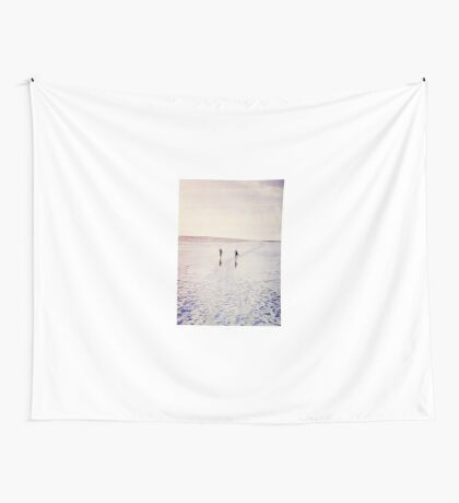 Surfers in the snow. Wall Tapestry