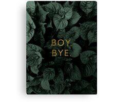 Boy, Bye Canvas Print