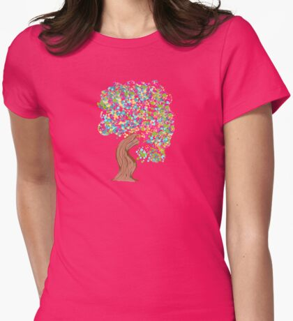 Gumbul Tree Womens Fitted T-Shirt