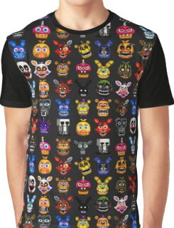 NEW - FNAF Multiple Animatronics - (Dec 2016) - Pixel art Graphic T-Shirt