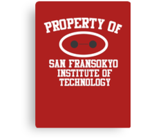 Property Of San Fransokyo Institute of Technology Canvas Print