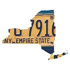 Vintage New York License Plates by Maren Misner