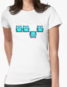 A whole different perspective for the owl Womens Fitted T-Shirt