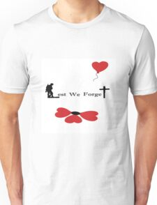 Lest We Forget - Banksy Poppy Unisex T-Shirt