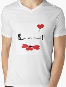 Lest We Forget - Banksy Poppy Mens V-Neck T-Shirt
