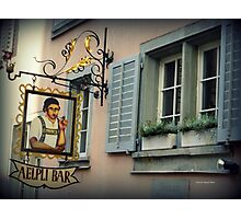 Aelpli Bar Window Photographic Print