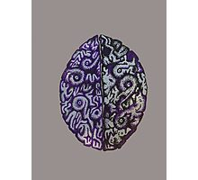Purple Brains Photographic Print