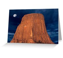 Sunrise over Devils Tower Greeting Card