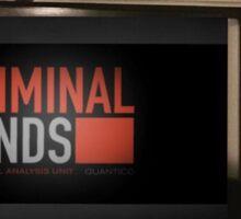 Bernie Watching Criminal Minds Sticker