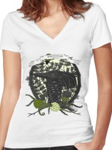 Kori Bustard (Ardeotis Kori) Women's Fitted V-Neck T-Shirt