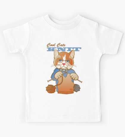 Cool Cats Knit, Calico Kids Tee
