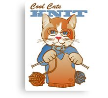 Cool Cats Knit, Calico Canvas Print
