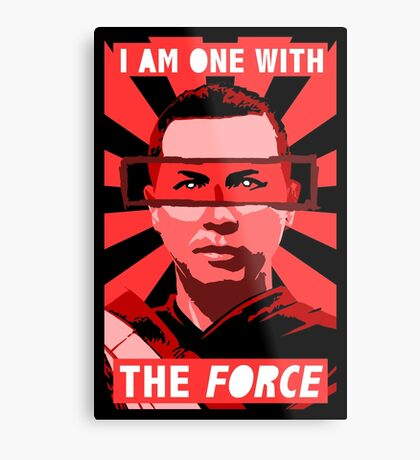 I am one with the force Metal Print
