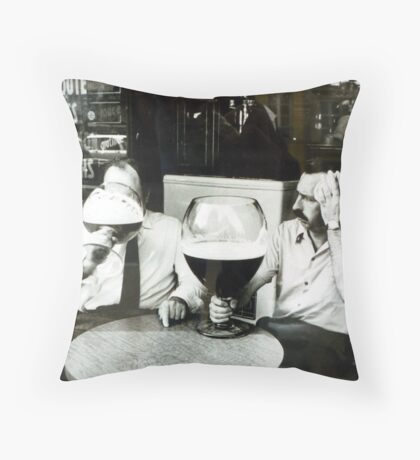 Confusion through the window Throw Pillow