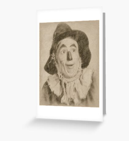 Ray Bolger, Scarecrow, Wizard of Oz Greeting Card