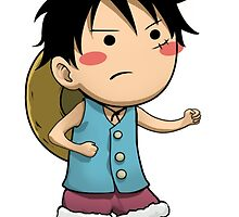 Chibi Luffy Small One Piece by Salam s