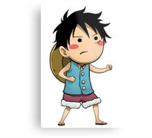 Chibi Luffy Small One Piece Metal Print