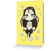 Banana Milkshake Greeting Card