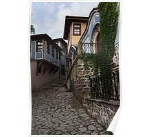 Steep and Twisting Cobblestone Street Poster