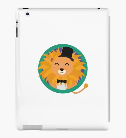 Lion groom with cylinder iPad Case/Skin