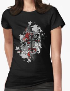 Gothic Cross Womens Fitted T-Shirt