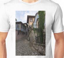 Steep and Twisting Cobblestone Street Unisex T-Shirt