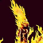 BURNING MAN (Flames) by leethompson
