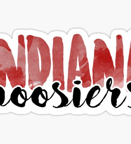 Indiana Hoosiers Brush Script Sticker