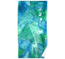 Set Free Green Abstract Painting Poster