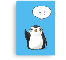 Hi Penguin Canvas Print