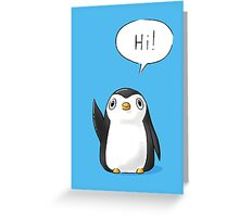 Hi Penguin Greeting Card