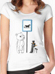 School Stop Women's Fitted Scoop T-Shirt